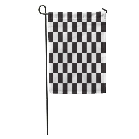 SIDONKU Checkered Racing Flag Symbolic of End Car Race Black Garden Flag Decorative Flag House Banner 12x18 inch - Racecar Flag