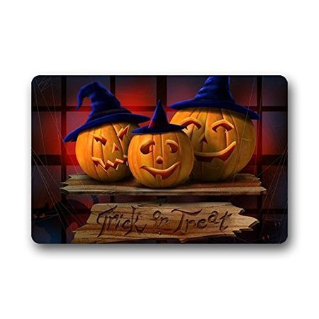 WinHome Happy Halloween Pumpkin Doormat Floor Mats Rugs Outdoors/Indoor Doormat Size 23.6x15.7 inches (100 Floors Level 15 Halloween)