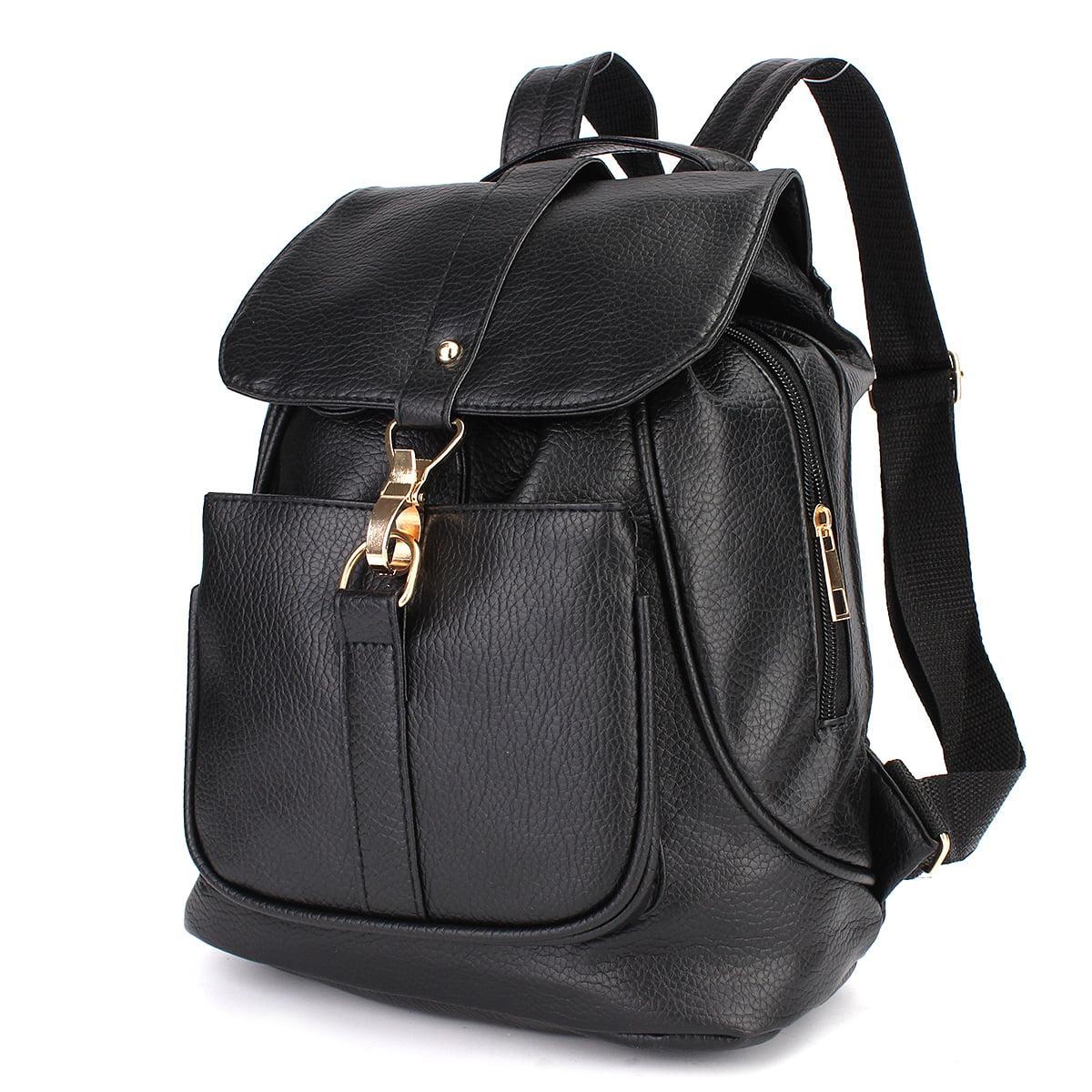 Fashion Women Ladies Backpack Travel Leather Rucksack Shoulder Bag School Bookbag Black by