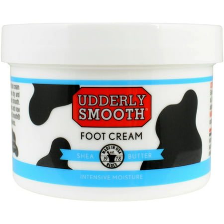 Udderly Smooth Shea Butter Foot Cream Moisturizing Lotion for Dry, Chapped, Rough, Cracked Skin, Lightly Scented, 8 Oz