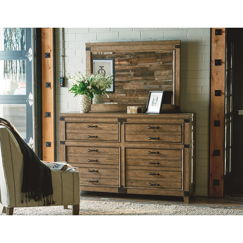 Legacy Classic Furniture MetalWorks 6 Drawer Dresser with Mirror