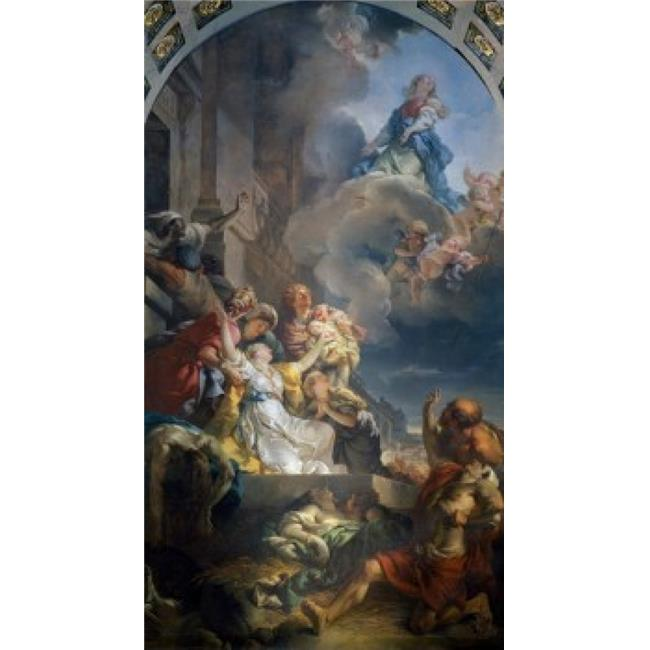 Superstock SAL11581926LARGE The Miracle of The Ardents by Gabriel Francois Doyen , 1726-1806 France Paris Church of Saint Roch Poster Print, 24 x 36 - Large - image 1 de 1