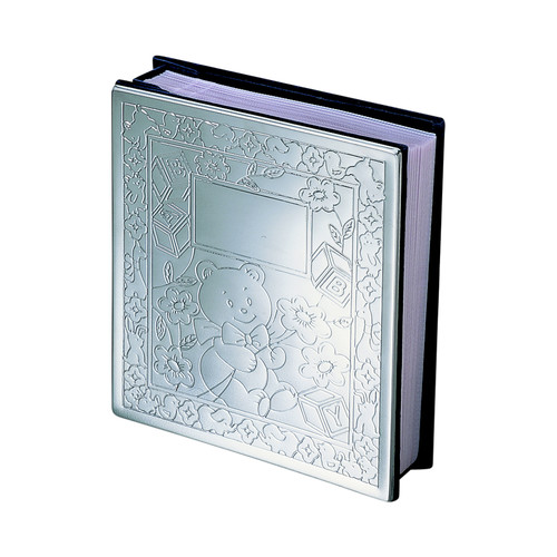 Creative Gifts International 024408 4 in. Nickel Plated Holds with 100 - Bright Baby Icon Album