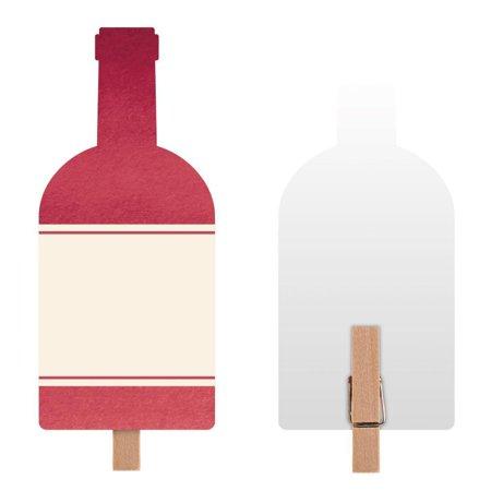 Creative Converting Sip Sip Hooray Wine Food Markers, 8 ct