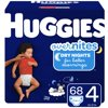 HUGGIES OverNites Diapers, Size 4, 68 Ct, Overnight Diapers, Giga Jr Pack