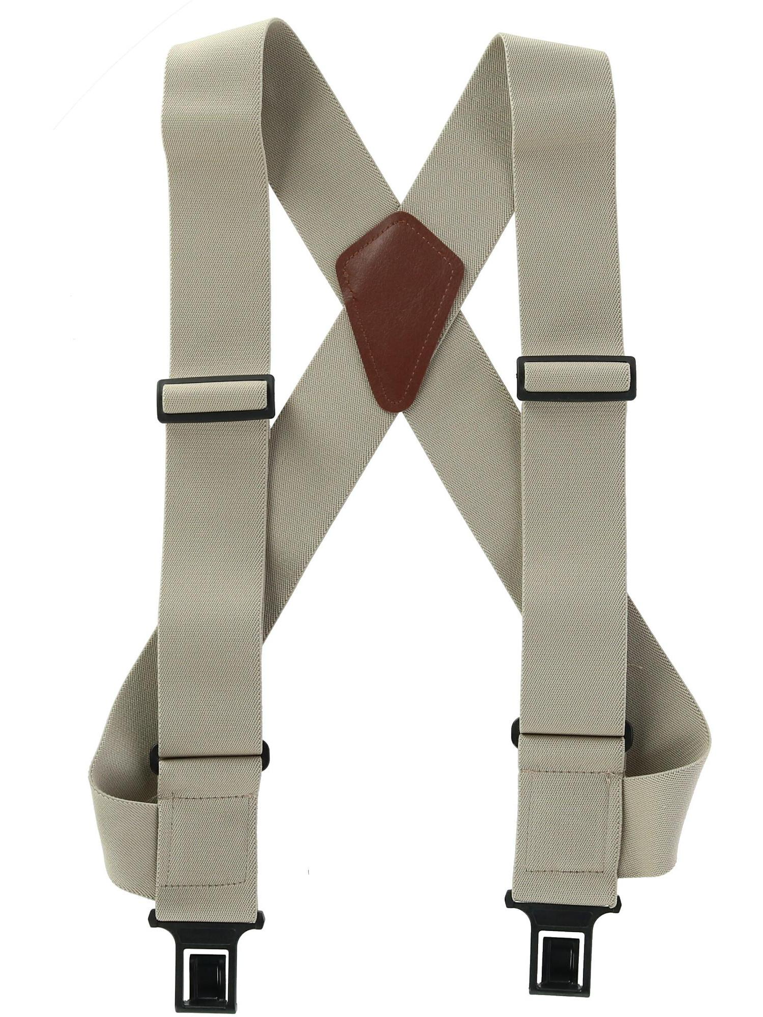 Adjustable Solid Straight Clip by Action Ward Womens and Mens Suspenders Stylish
