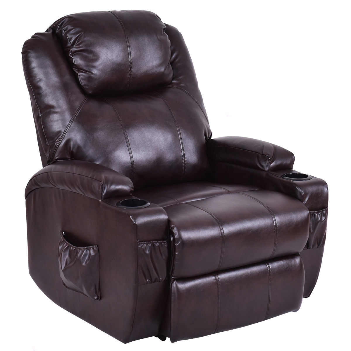 Costway Lift Chair Electric Power Recliner w Remote and Cup Holder Living Room Furniture by Costway