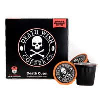 Death Wish Single Serve Strong Coffee Pods, 18 Count for Keurig K-Cup Brewers