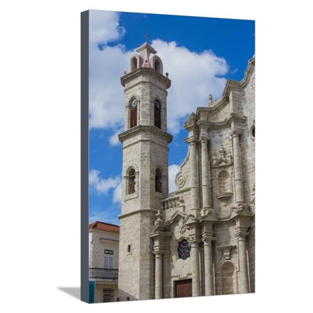 Cuba. Havana. Old Havana. Cathedral of the Virgin Mary of the Immaculate Conception, 1777 Stretched Canvas Print Wall Art By Inger Hogstrom