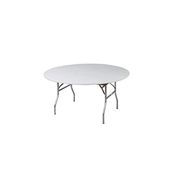Kwik Covers 60 Round Fitted Plastic, Round Fitted Table Covers