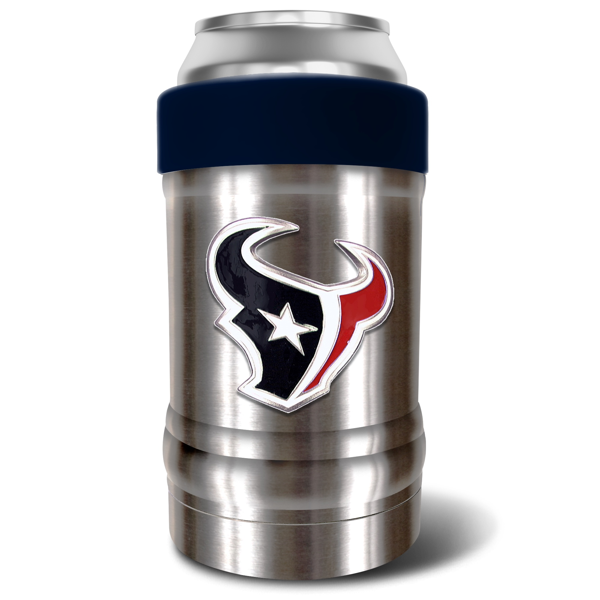 Houston Texans The Locker 12oz. Can Holder - Silver/Navy - No Size