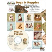ScrapSMART Dogs and Puppies Clip-Art CD-ROM, Vintage Images for Scrapbook, Craft, Sewing