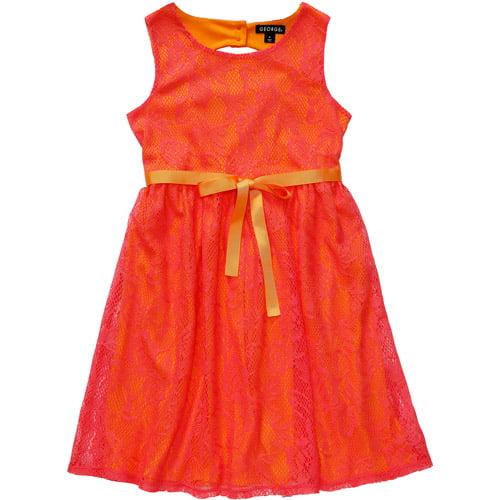 George Plus Girls' Sleeveless Crochet Dress