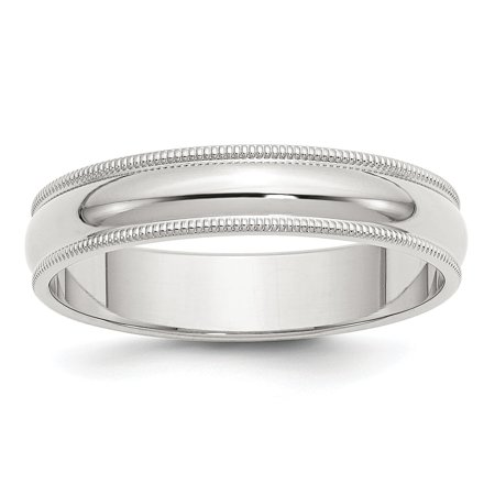 Sterling Silver 8in 5mm Engravable Milgrain Band