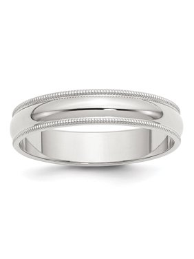 Sterling Silver 8in 5mm Engravable Milgrain Band
