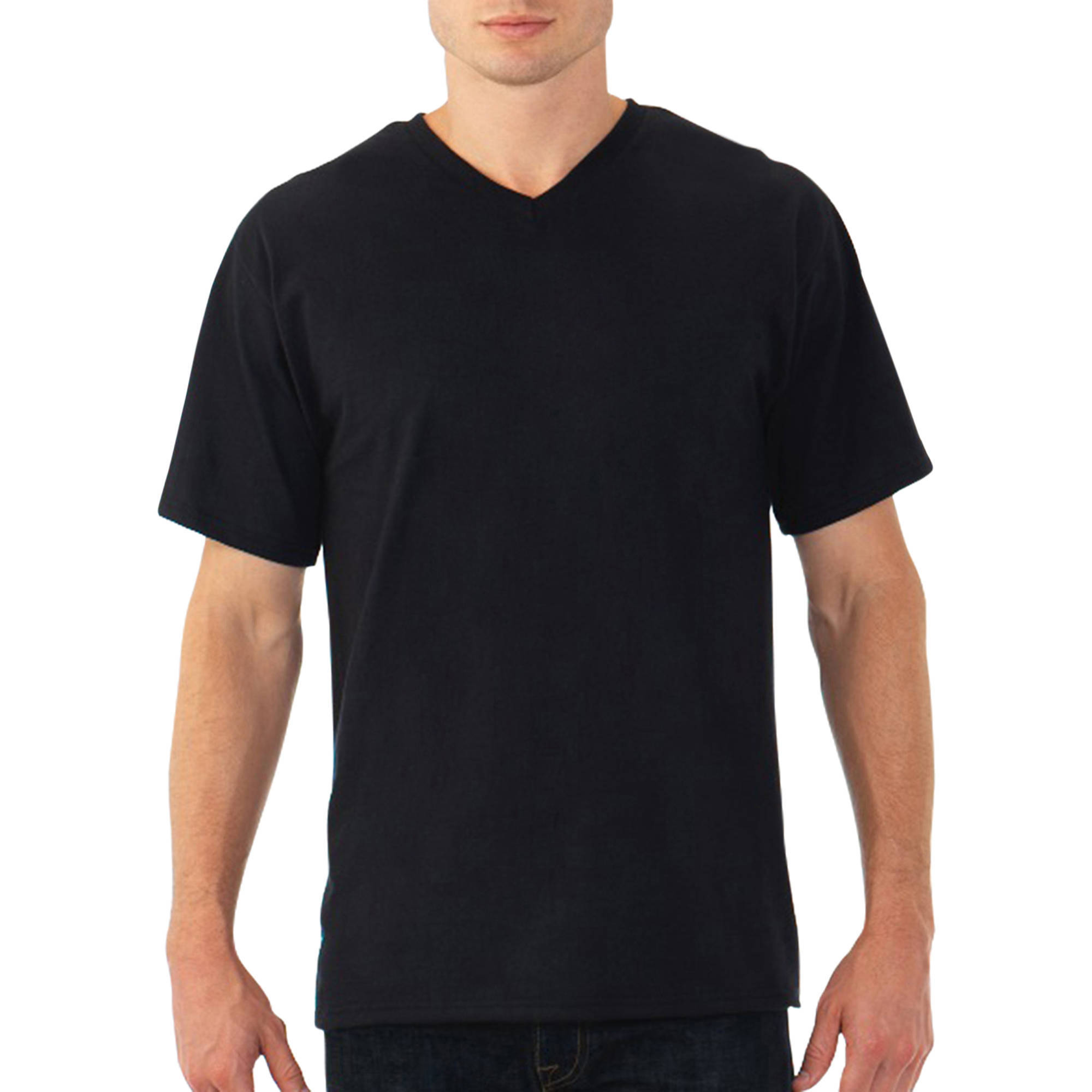 Fruit of the Loom Men's Short Sleeve V-neck Tee