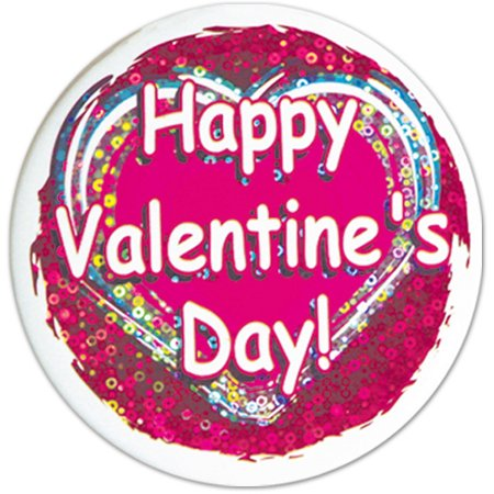 Ddi Happy Valentine's Day Button (pack Of 156)