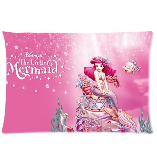 DEYOU Child Cartoon The Little Mermaid Pillowcase Pillow Case Cover Two Sides Printing Size 20x30 inch