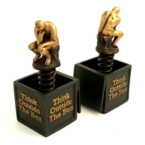 Bey-Berk Think Outside the Box Book Ends (Set of 2)