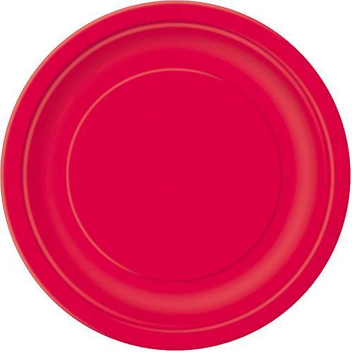 Paper Plates, 9 in, Red, 16ct