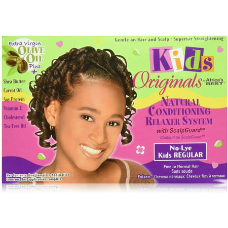 Africa's Best Kids Originals, Natural Conditioning Relaxer System with Scalp Guard 1 Ea (Pack of