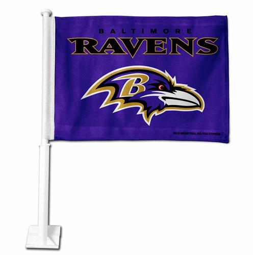Rico Industries NFL Car Flag, Baltimore Ravens