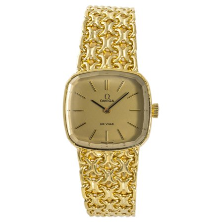 Pre-Owned Omega De Ville UNKNOWN Gold 24mm Women Watch (Certified Authentic & Warranty)