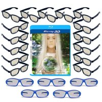 20 Universal Passive 3D Glasses Family Pack for LG, SONY and all other Passive 3D TV's - Plastic 3-D Glasses - Includes 3D Blu-ray, 5 Premium Master Image and 15 Adult.., By 3DHeaven