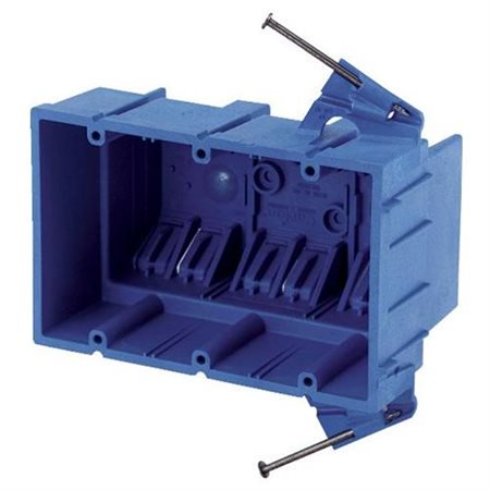Thomas & Betts BH353A Lightweight Outlet Box, 3 Gang, 53 cu-in, 5-7/8 in L X 3-3/4 in W X 3-1/2 in D