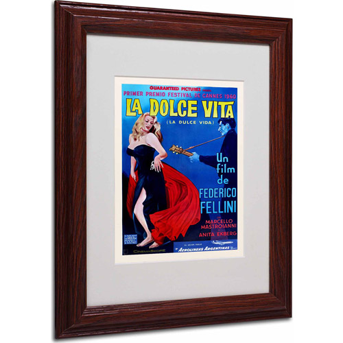 "Trademark Fine Art ""La Dolce Vita"" Matted Framed Art by Vintage Apple Collection, Wood Frame"