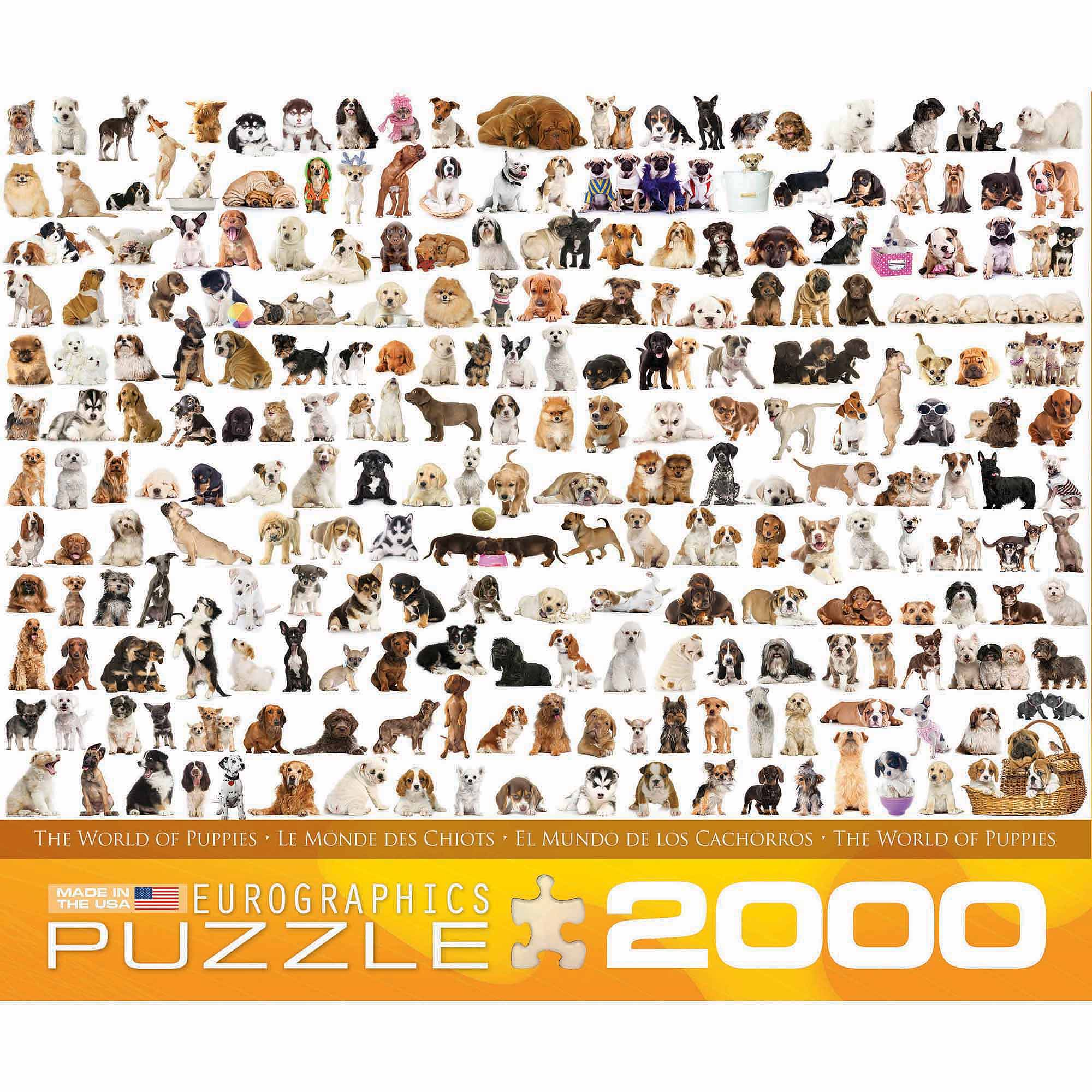 EuroGraphics The World of Dogs 2000-Piece Puzzle by Generic