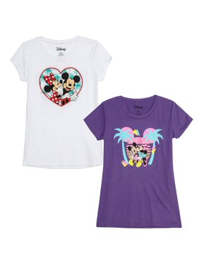 99d214152 Product Image Juniors' Mickey & Minnie Tropical Graphic T-Shirt Bundle ...