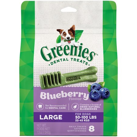GREENIES Large Natural Dog Dental Chews Blueberry Flavor, 12 oz. Pack