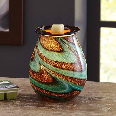 Better Homes And Gardens Tidepool Art Glass Wax Warmer