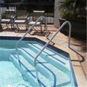 Saftron DTP-260-W Deck to Pool 2 Bend Handrail - 60 in. White
