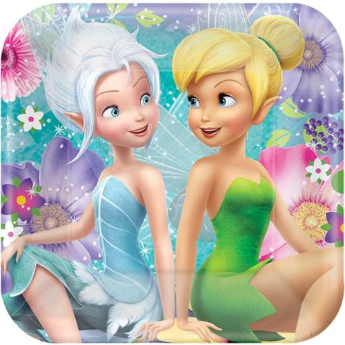 """Tinkerbell 7"""" Cake Plates (8 Pack) - Party Supplies"""