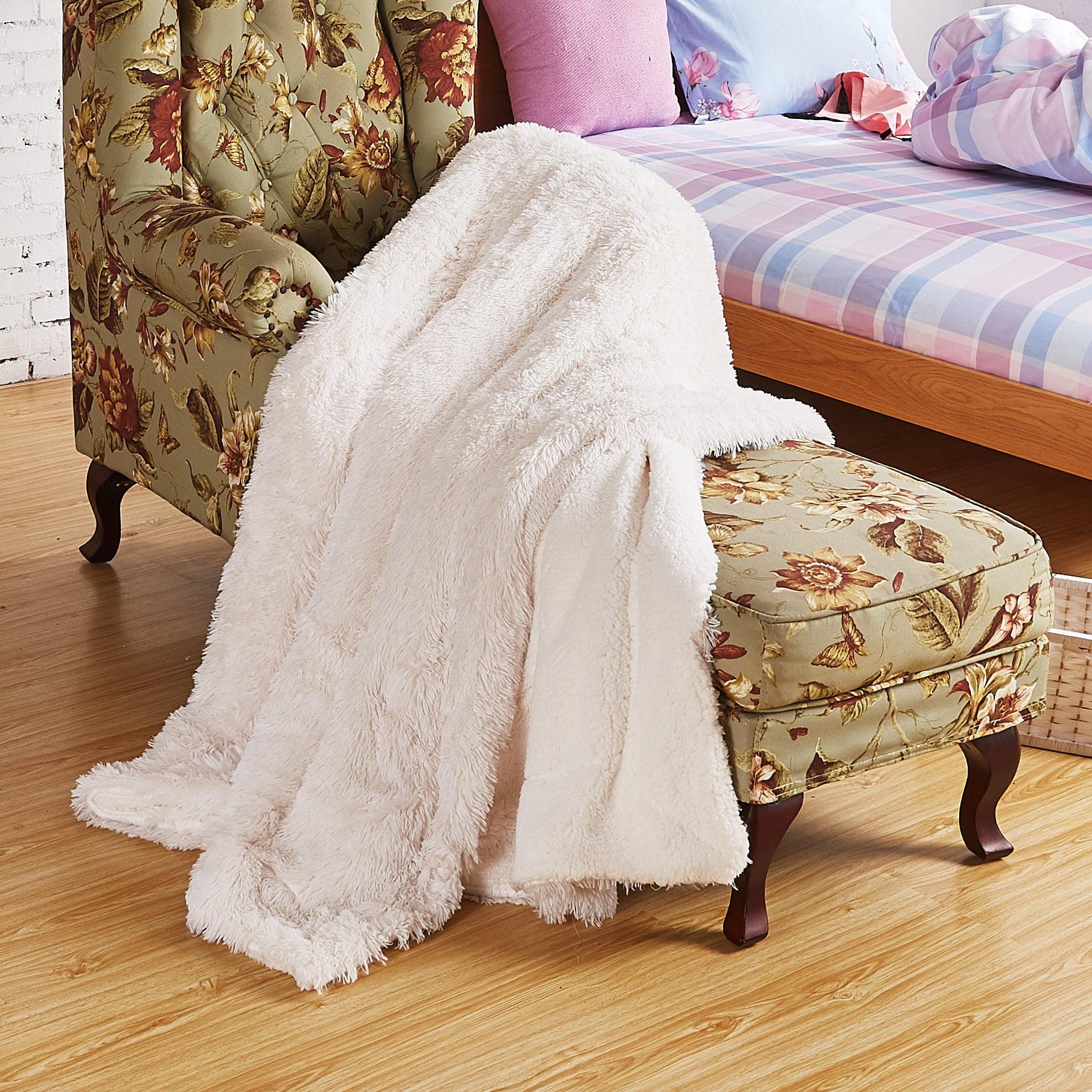 72724dff75 Chanasya Super Soft Shaggy Longfur Throw Blanket