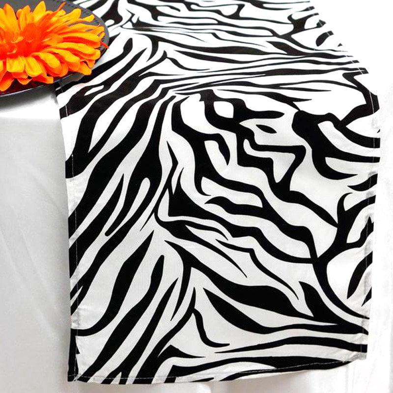 BalsaCircle 12'' x 108'' Safari Animal Print Zebra Table Top Runner Rosettes Wedding Party... by BalsaCircle