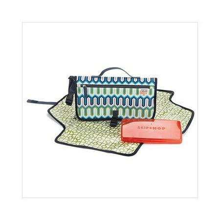 Skip Hop Jonathan Adler Pronto Changing Station in Chevron Blue