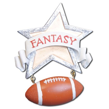 Fantasy Football NFL Sport Personalized Christmas Ornament DO-IT-YOURSELF (Personalized Footballs)