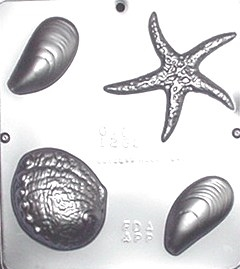 1269 Ocean Assortment Chocolate Candy Mold by
