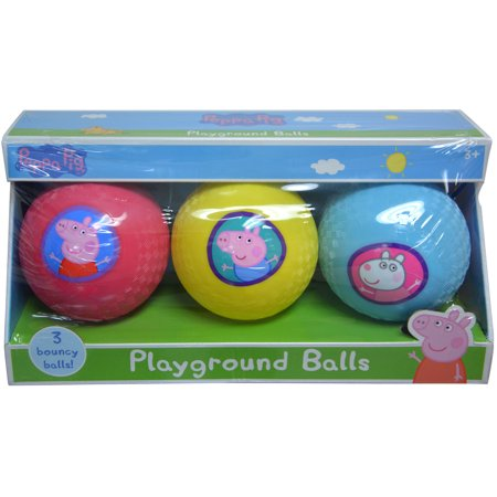 Nickelodeon Peppa Pig Rubber Playground Balls (3pc Set) Novelty Character Toys](Half Rubber Ball)