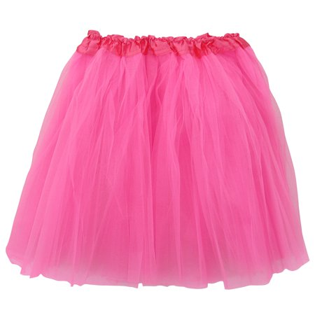 ca9b9db33a Plus Size Neon Pink Adult 3-Layer Tulle Tutu Skirt - Princess Halloween  Costume, Ballet Dress, Party Outfit, Warrior Dash/ 5K Run - Walmart.com