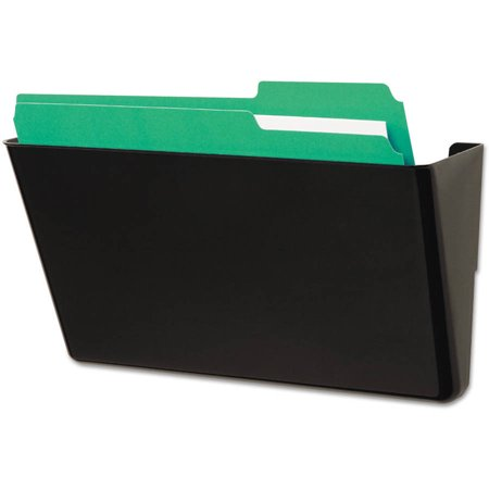 (2 Pack) Universal Wall File, Add-On Pocket, Plastic, Black -UNV08122