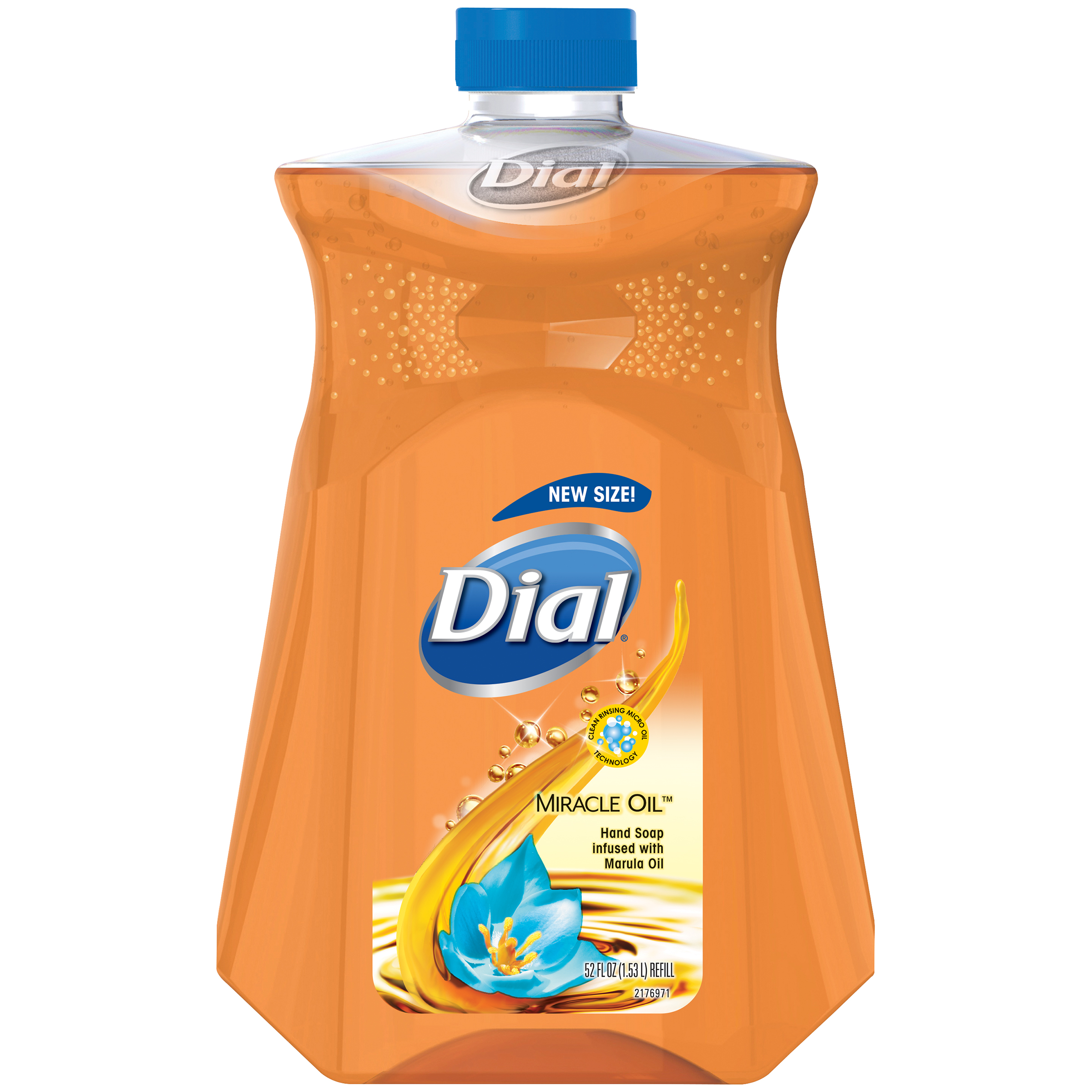 Dial Liquid Hand Soap with Moisturizer Refill, Miracle Oil Marula, 52 Ounce