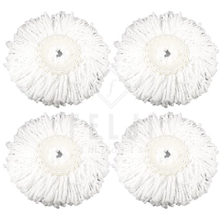 4 Replacement Microfiber Mop Head Refill For Hurricane Magic Mop 360 Spin