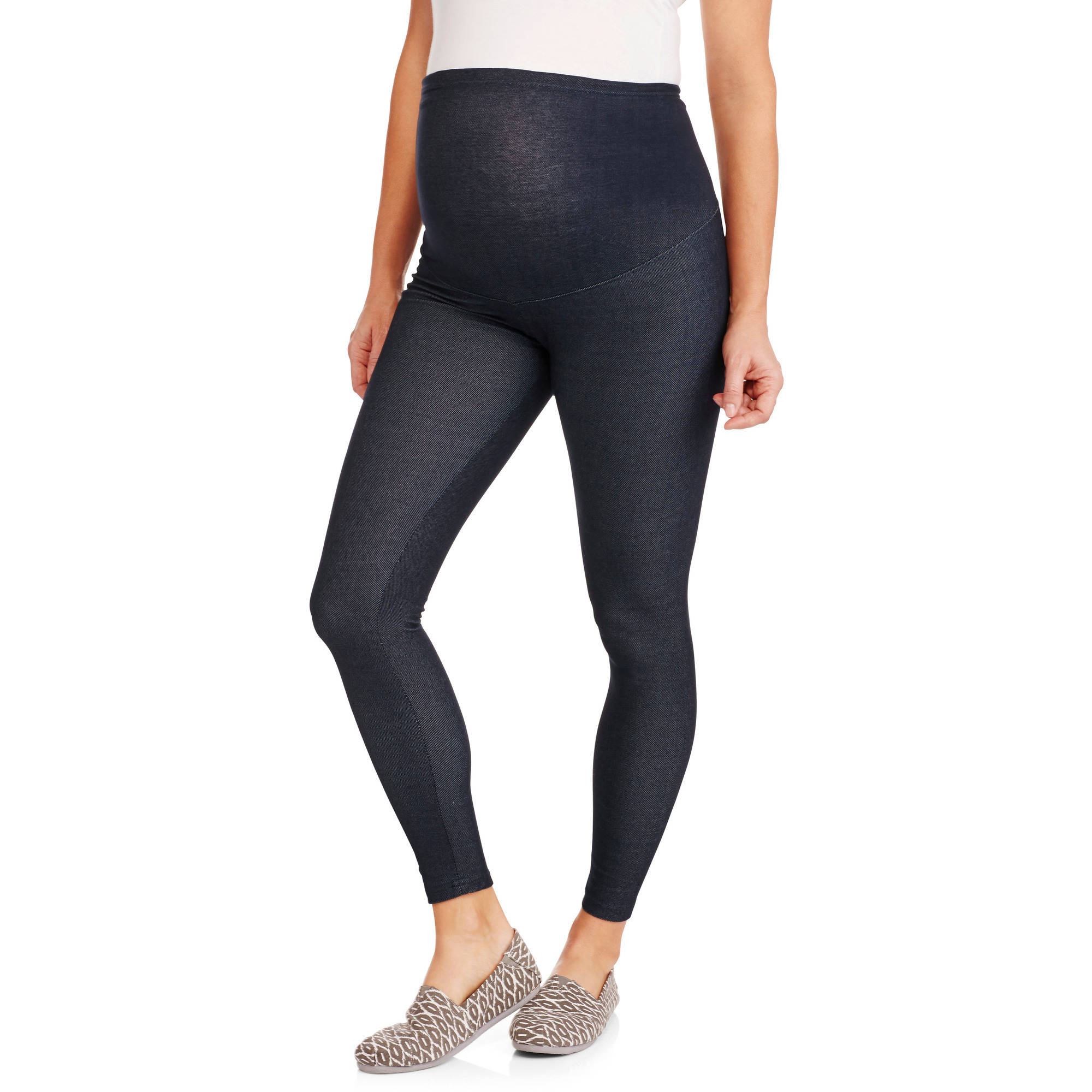 Oh! Mamma Maternity Full-Panel Soft Denim Leggings - Walmart.com