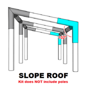Best Greenhouse Kits - Slope Roof, Lean-To Canopy Fittings Kits (10x10/20/30/40/50) DIY Review