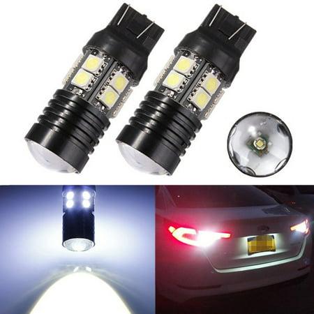 DC12V 6000K T20 10W 7443 Q5 5050 SMD 12 LED Car Brake Tail Turn Signal Light Bulb Back Up Lamp (Lights That Turn On In Your Car)