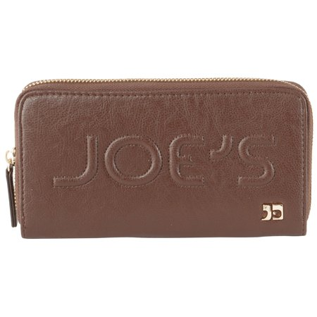Joe's Jeans Monogram Zip Around Wallet - Brown